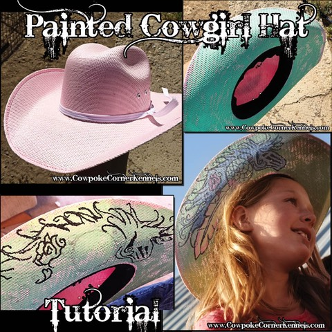 Painted cowgirl hat tutorial