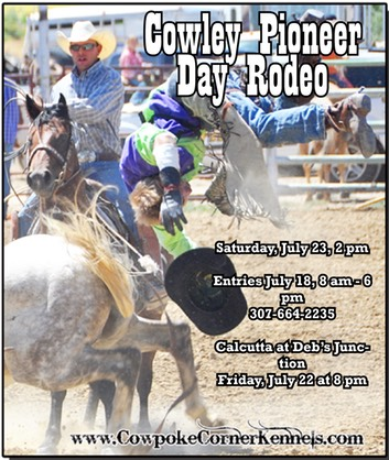 pioneer day rodeo ad color